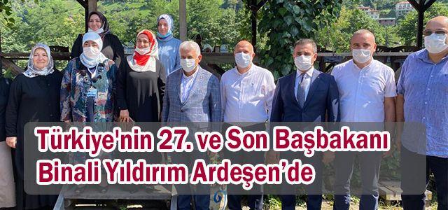 Türkiye'nin 27. ve son başbakanı Binali Yıldırım Ardeşen'de