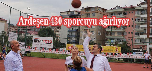 Uluslararası Basketbol Turnuvası Ardeşen'de Başladı