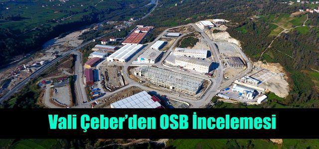 Vali Kemal Çeber, Rize Organize Sanayi Bölgesinde incelemelerde bulundu.