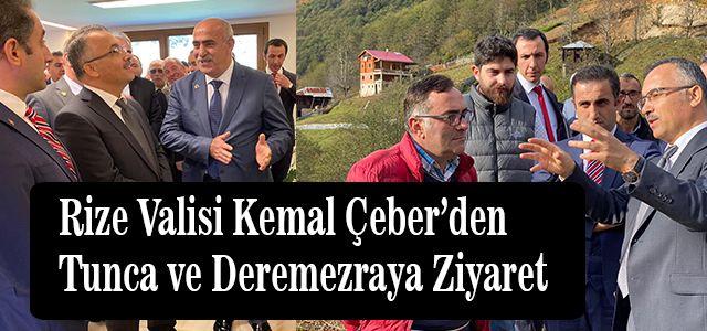 Vali Kemal Çeber Tunca ve Deremezraya Ziyarette Bulundu