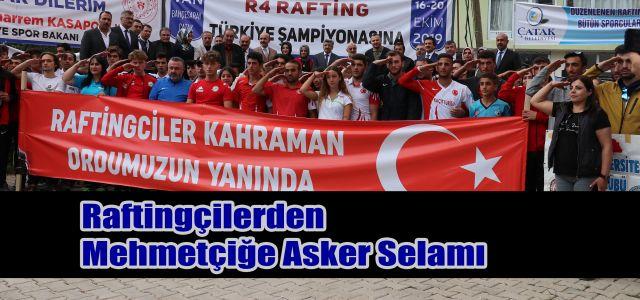 Van'da yapılacak olan Türkiye Rafting Şampiyonasından Barış Pınarı Operasyonuna Asker Selamı